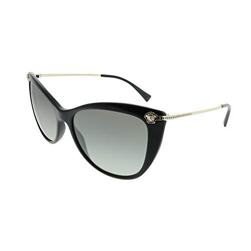 Versace 0VE4345B GB1/11 57 Occhiali da Sole, Nero (Black/Gradient), Donna