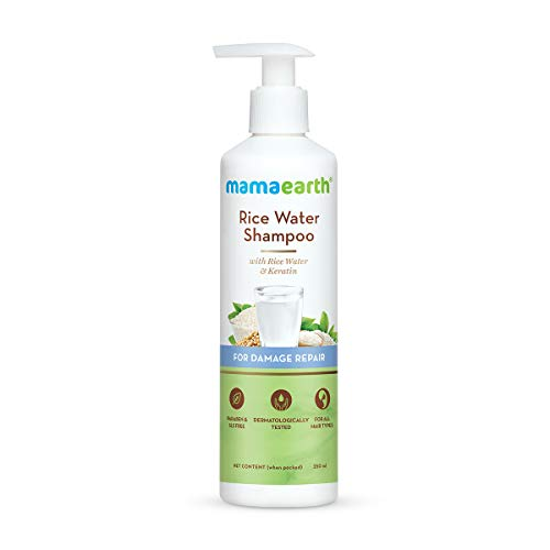 Neema Recommends : Mamaearth Rice Water Shampoo With Rice Water & Keratin For Damaged, Dry and Frizzy Hair ? 250ml