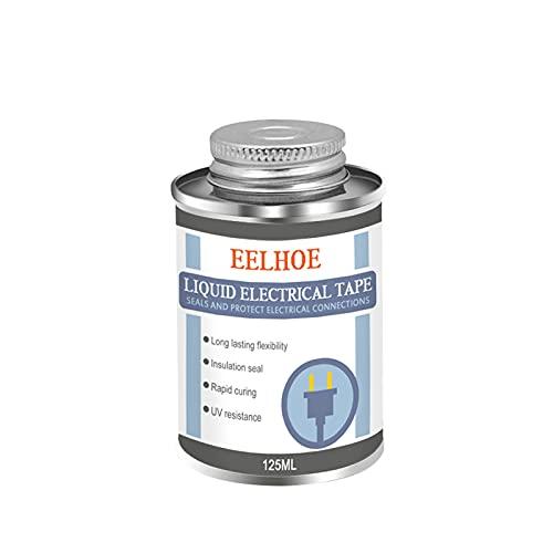 Yuemei 125ML Isolier- und Schutzlack Isolierlack Gleitmittel für Kabel, wasserdichte UV beständige und schnelltrocknende Isolierklebebandpaste (Schwarz)