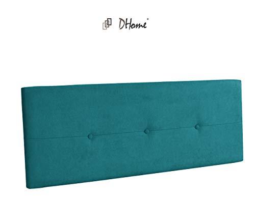 DHOME Cabecero de Polipiel o Tela AQUALINE Pro cabeceros Cabezal tapizado Cama Tela Turquesa, 145cm (Camas 120/135/140)