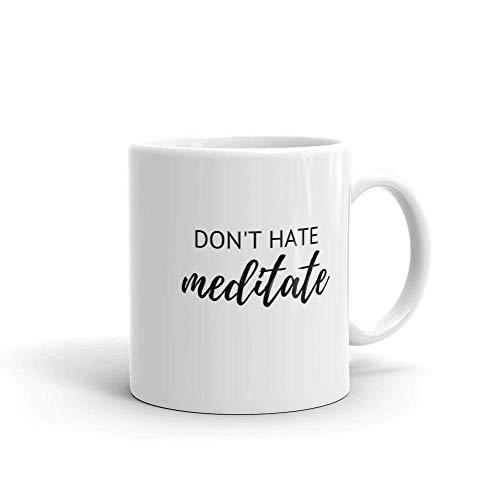 N\A Hassen Sie Nicht Meditationsbecher, Meditationsbecher, Yoga-Liebhaberbecher, Yoga-Geschenke, Achtsamkeits-Kaffeebecher, spirituelle Geschenke, Geschenk für Buddha-Liebhaber