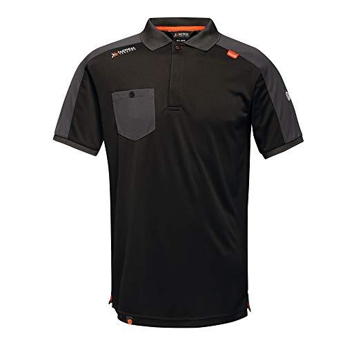 Regatta TRS167LA800 - Polo de absorción de humedad (talla grande, 16 unidades), color negro