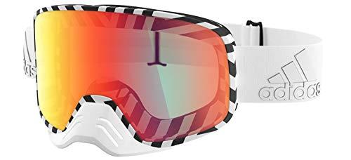 adidas Sport BACKLAND Dirt AD84 White Matt/Light Red Mirror Af Cat. Unisex Skibrillen