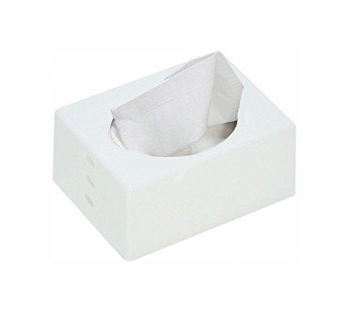 伊勢藤 ポケットティッシュケース ホワイト 1個 [6154]
