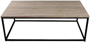 Homemania Tavolino da Caffè Pictor, Per Salotto, Soggiorno, Ufficio-Tavolo D'Appoggio, Comodino, Nero, 70 x 45 x 130 cm