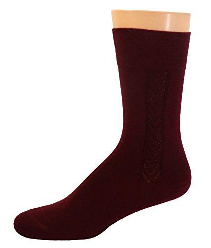 Shimasocks Herren Business Socken Piquérand, Farben alle:bordeaux, Größe:43/46