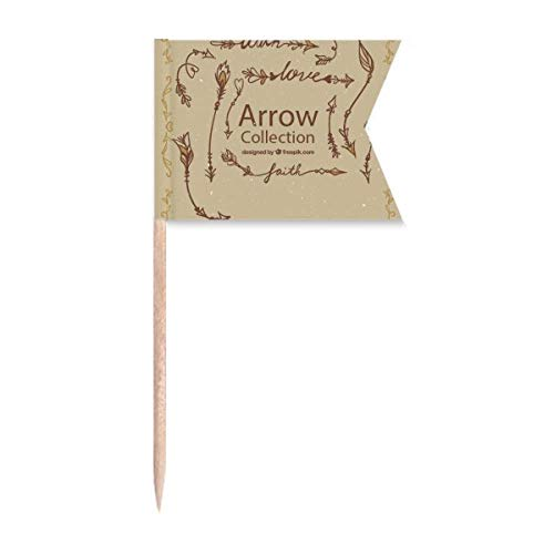Beauty Gift Bohema mia Wind Fashion Arrow Markierung für die Kennzeichnung von Zahnstocher-Flaggen