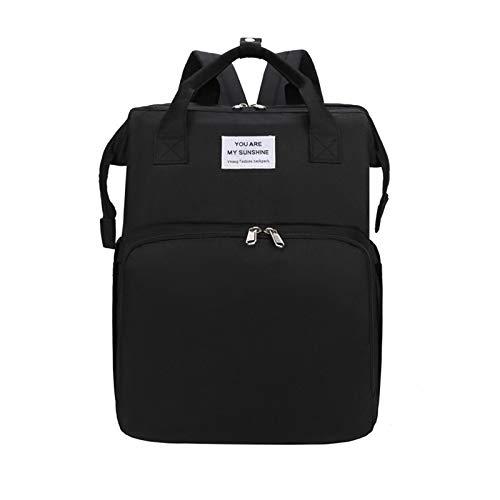Jiuyue Tragbare Faltbare Mumientasche, Leichter Und Großer Multifunktionaler Rucksack Für Mutter Und Baby, Mumienbetttasche, Faltbares Kinderbett Schwarz