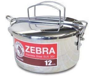 【インナートレー付き ゼブラ ステンレス ランチボックス トレイ付き 12cm】フードキャリア、お弁当箱、ZEBRA、zebra、新生活 応援、アウトドア 弁当箱