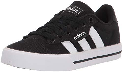 adidas Daily 3.0 Skate Shoe, Black/White/Black, 1 US Unisex Little Kid