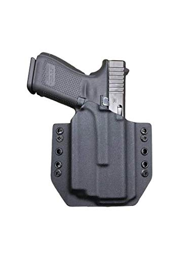 Black Kydex Holster Compatible with Glock 19 23 32 Olight PL-Mini 2