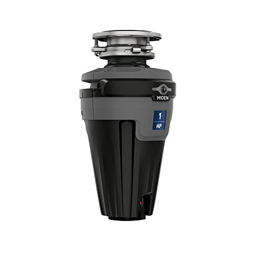 Moen EXL100C EX Series Continuous Feed Lighted Garbage Disposal with Sound Reduction, or Unfinished