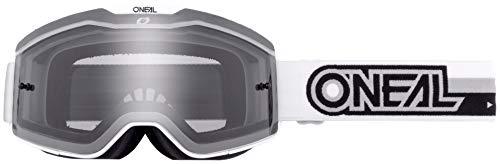 O'NEAL | Fahrrad- & Motocross-Brille | MX MTB DH FR Downhill Freeride | Verstellbares Band, optimaler Komfort, perfekte Belüftung | B-20 Goggle | Erwachsene | Schwarz Weiß Clear | One Size