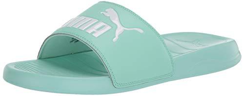 PUMA Popcat Slide Sandal, Mist Green White, 10 M US
