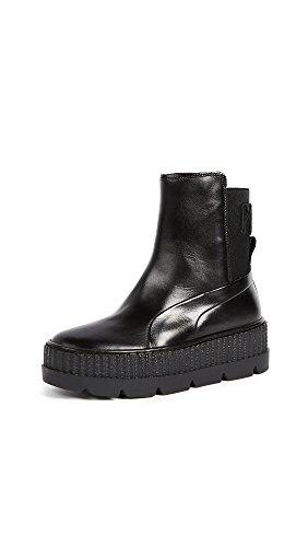 PUMA Women's Fenty x PUMA Chelsea Sneaker Boots, Puma Black, 8 M US