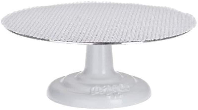 Ateco 612 Cast Iron And Non Slip Pad Cake Stand 12 Inch White