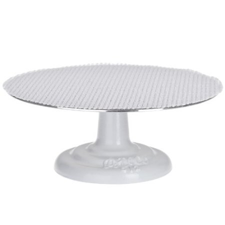Ateco Cast Iron and Non-slip Pad Cake stand, 12 inch, White