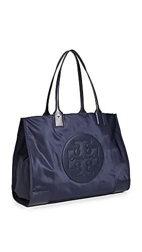 Tory Burch Women's Ella Tote, Tory Navy, Blue, One Size 80479-405