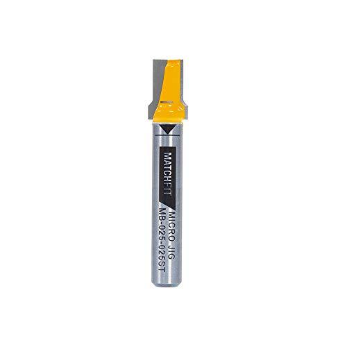 MATCHFIT MB-025-025ST Broca de alivio (vástago de 1/4'), amarillo, ranura recta