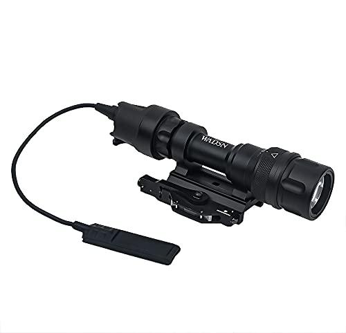 WADSN Scout Light M952V Linterna táctica de 350 lúmenes, linterna con interruptor de presión, antorcha táctica con montaje QD(Black)