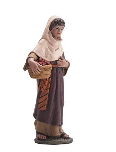 Triciclo Editores Figura Belen J.L.Mayo Serie 11 cms. Pastora con Cesta de Fruta - BEL108