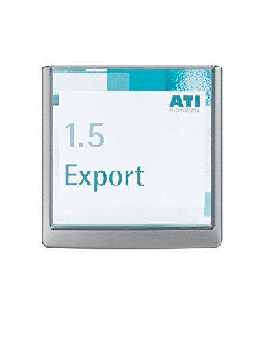 Durable 486237 Click Sign Türschild (149 x 148,5 mm, zum Ankleben oder Anschrauben) graphit