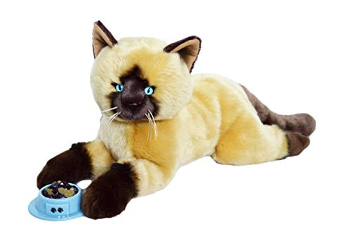 Auswella Plush Rusty The Siamese Kitten- Stuffed Animal Cat