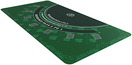 Bullets Playing Cards Blackjack Matte in 180 x 90 cm - Tischunterlage für echtes Casino-Feeling