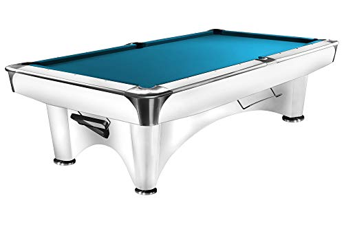 Dynamic Billardtisch III, 9 ft. (Fuß), glänzend-weiß, Pool