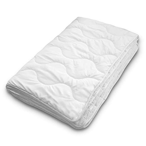 Siebenschläfer Sommerdecke 155x220 cm - dünne und leichte Bettdecke für den Sommer (155 x 220 cm - leichte Sommerdecke)