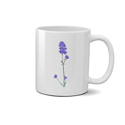 Agastache Blue Fortune Rugosa Blue Fortune hand draw art Weiße Tasse Cup Keramik Geschenk-Kaffee-Tee
