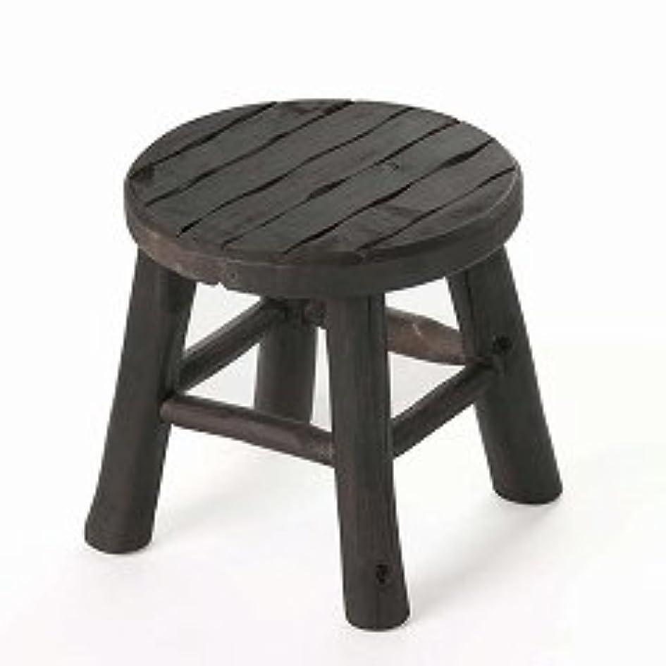 笑い神の散文木製椅子 エスニックスツール *3サイズ* (ショート(S))