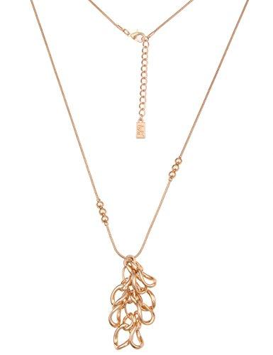 Leslii Damenkette Glieder Halskette Statement Schlangenkette Modeschmuck Kette Goldkette lang 80 cm in Gold Hochglanz