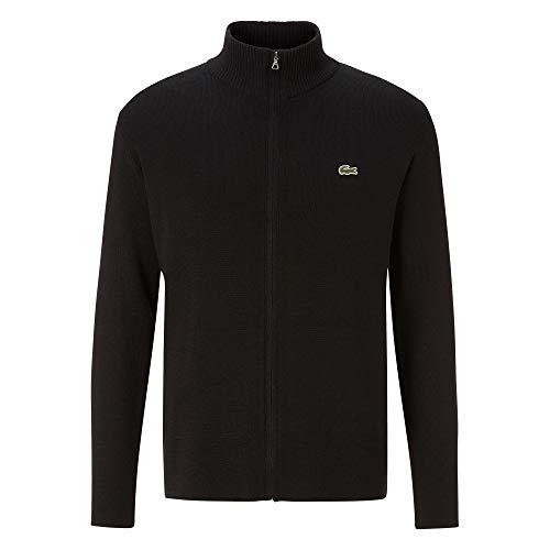 Lacoste Herren AH2190 Rollkragenpullover, Reißverschluss klassisch Basic Sweater Sweatjacke Pullover Pulli Rollkragen Stehkragen,Black (031),S (3)