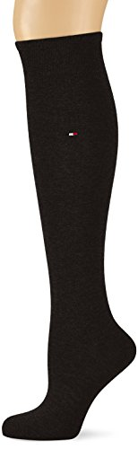 Tommy Hilfiger Damen TH Women 98% Cotton KNEEHIGH 1P Kniestrümpfe, Schwarz (Black 200), 35/38