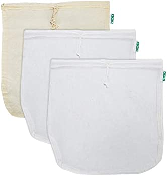 3-Pack Orgeco Reusable Cotton Cheesecloth Nut Milk Bag