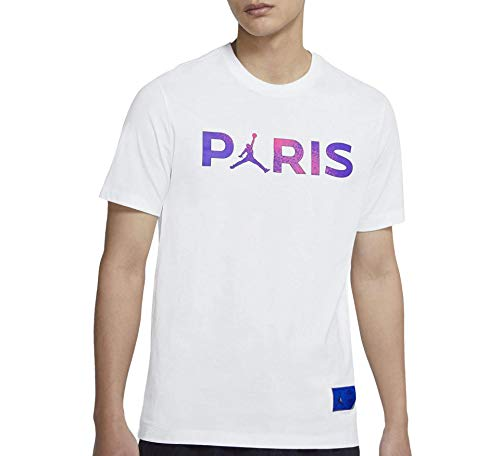 Nike Camiseta del París Saint-Germain Wordmark (XXL), color blanco