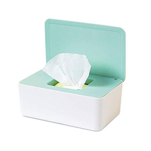 Feuchttücher-Box,Toilettenpapier Box,Kunststoff Feuchttücher Spender,Baby Feuchttücherbox,Baby Tücher Fall,Tissue Aufbewahrungskoffer,Taschentuchhalter,Tücherbox,Serviettenbox (Grüne)