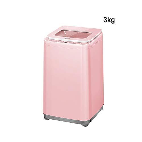 XSJZ Lavadora Pequeña, Lavadora Automática Integrada de Lavado de Onda Antibacteriana de 3 Kg For Máquina de Deshidratación Independiente de Madre E Hijo Lavatrice Slim (Color : B)