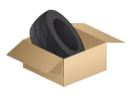 Reifenkarton für 2 Reifen 635x635x410 cm