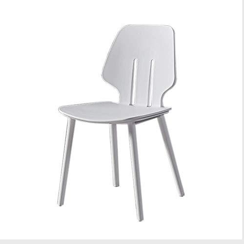 LLYU Nordic eenvoudige economie IKEA verdikte rug, kunststof eetstoel, bureaustoel, computerstoel Kleur: wit