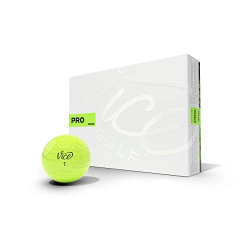Vice Golf PRO 2020 | 12 Golf Balls | Features: 3-Piece cast Urethane, Maximum...