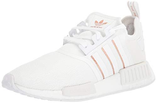 adidas Originals NMD_R1, Zapatillas para Mujer, Blanco Oro Rosa metálico, 41.5 EU