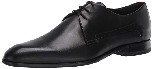 HUGO by Hugo Boss Men's Dress Appeal Leather Lace Up Derby Uniform Shoe Oxford, Night, 9 Medium US