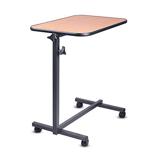 Schreibtisch DH® Klappbarer Computerschreibtisch, Beweglicher Verstellbarer Tisch, Arbeitstisch, Nachttisch, Einfacher Esstisch, Höhe 70-118cm