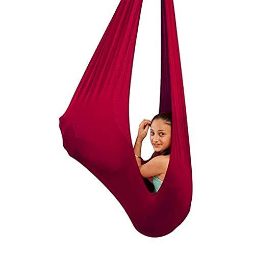 MTFZD Hamaca De Yoga Interior Ajustable Columpios Infantiles Sensorial Hamaca Terapia Hamaca Swing para Niños Adolescentes con Más Necesidades Especiales para Integración Sensorial