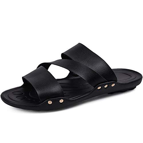 Nouveau été à Bout Ouvert Sandales Mode étudiants Tout-Match Casual Chaussures de Plage Hommes Mode Casual Pantoufles à Bout Ouvert pour Homme (Color : Black, Size : 39)