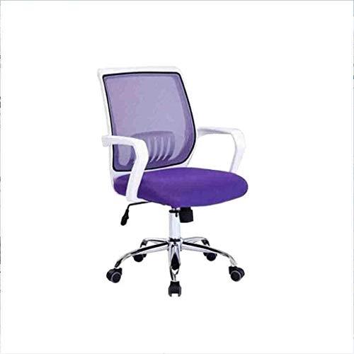 Racing Home Office Silla Silla giratoria Ascensor Net Home Office Computer Silla Silla giratoria Casual (Color : Purple)