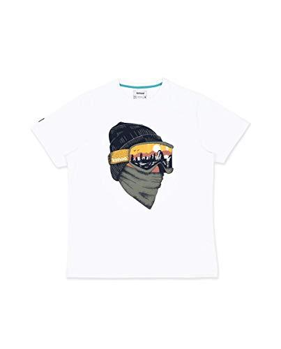 KIMOA Camiseta Goggles Blanco, Unisex Adulto, M