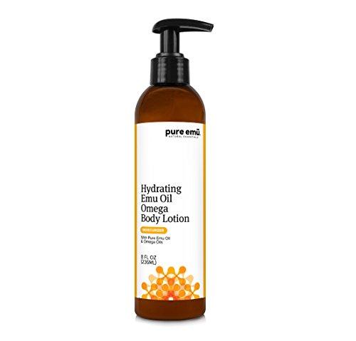 PURE EMU Hydrating Emu Oil Omega Body Lotion: Luxurious Daily Cream For Dry Skin | Convenient Pump Dispenser | Nature's Greatest Moisturizer, 8 fl oz